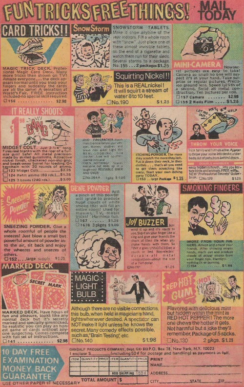 vintage comic book mail order ads