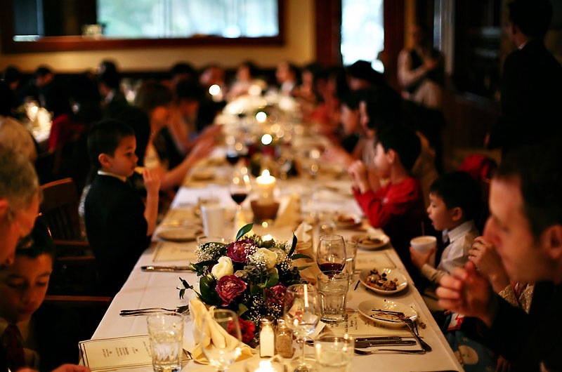 Real Weddings Felicia Andys Elegant Restaurant Reception
