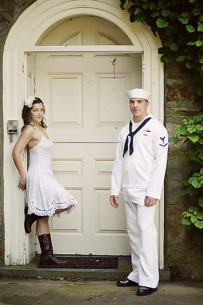 Military wedding couple plans small wedding - photo by Isabel March Photography