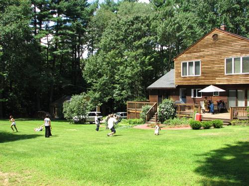 backyard wedding site