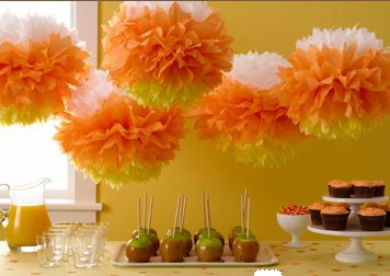 candy corn pompoms