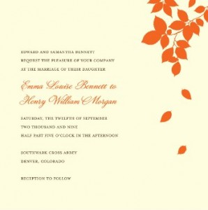 falling leaves invitations