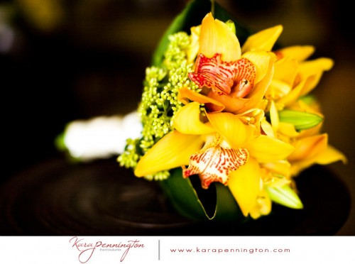 destination wedding bouquet yellow
