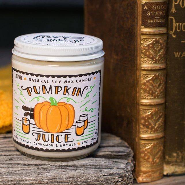 pumpkin juice soy candle
