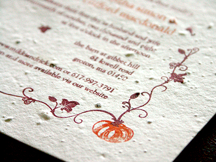 pumpkin wedding invitation