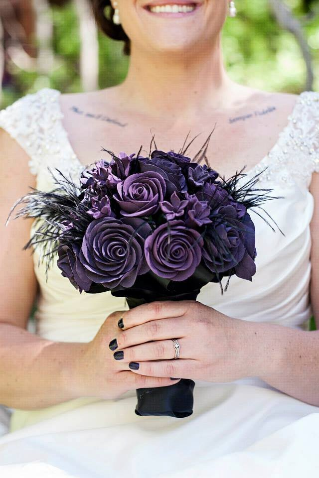 gothic clay bouquet