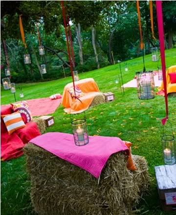 outdoor wedding seating