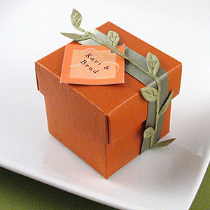 orange favor box