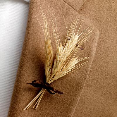 wheat boutonniers