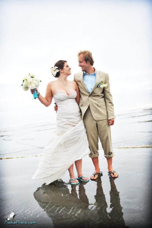 real weddings  dale and chris u0026 39 s beach wedding on the