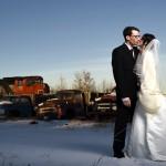 winter wedding in alberta