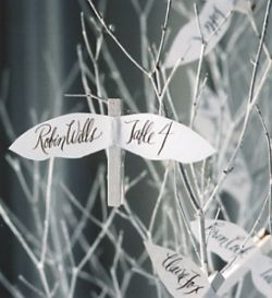 diy escort cards love doves
