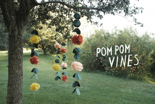 diy wedding pom poms