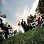 mansion wedding outdoors in CT