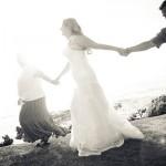 oceanfront wedding in california
