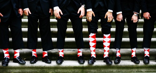 argyle socks wedding