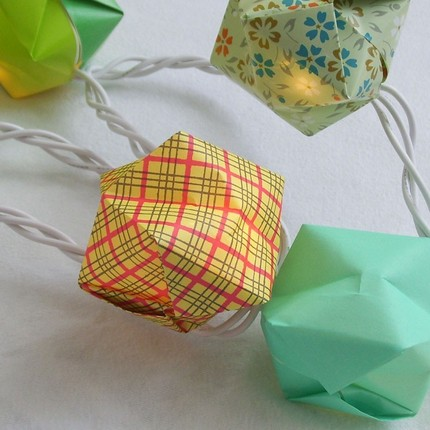 Balloon String Lights Diy : DIY Origami Balloon Lights