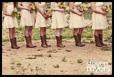 cowboy wedding cowboy boots bride