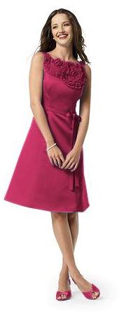 pink bridesmaids dress