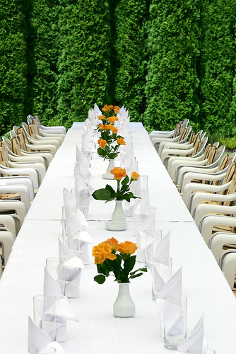 reception long table