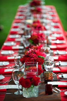 long table wedding reception