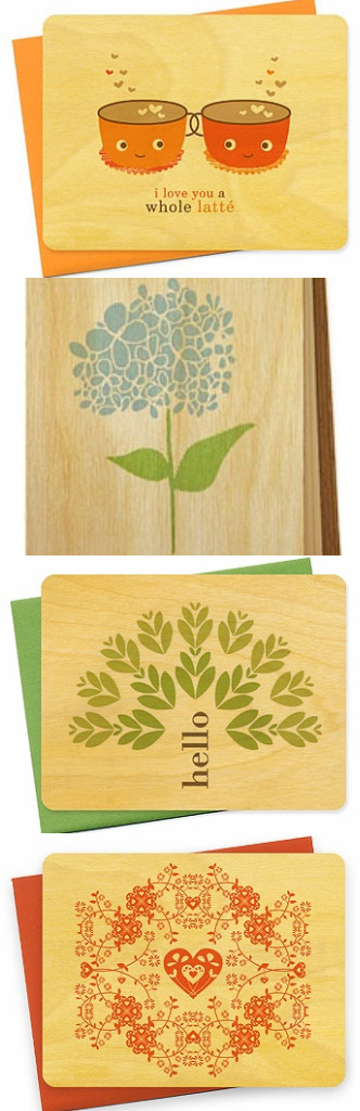 wood stationery