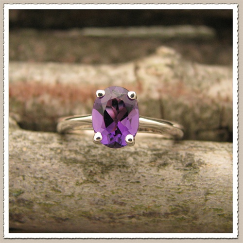 turtle dove amethyst ring