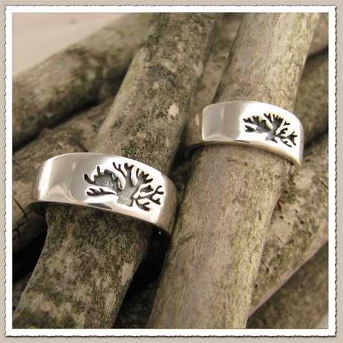 unique wedding bands tree of life