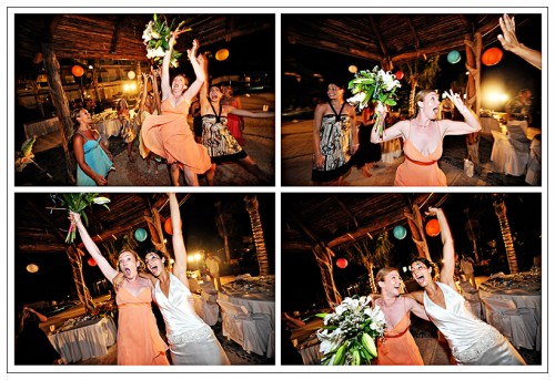 beach bouquet toss