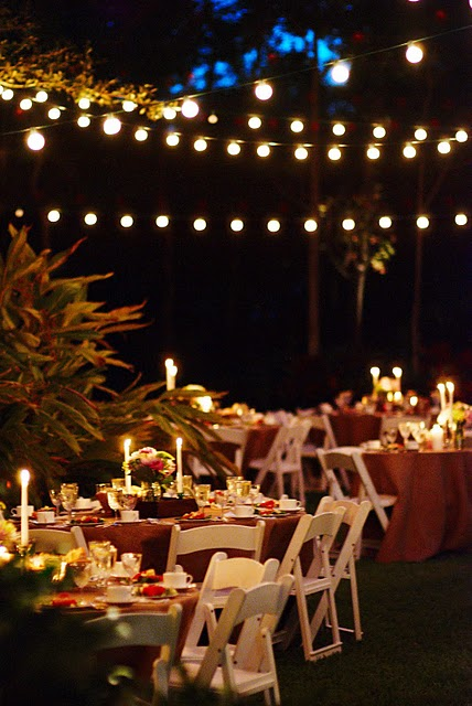 Real weddings candice mike39s diy wedding in florida for Diy wedding reception lighting