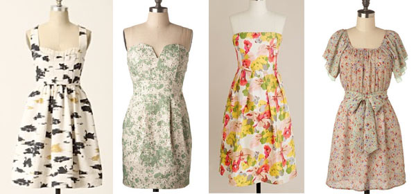 floral-pattern-bridesmaid-dresses