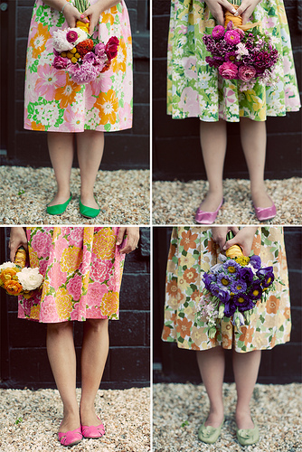 vintage floral bridesmaid dresses