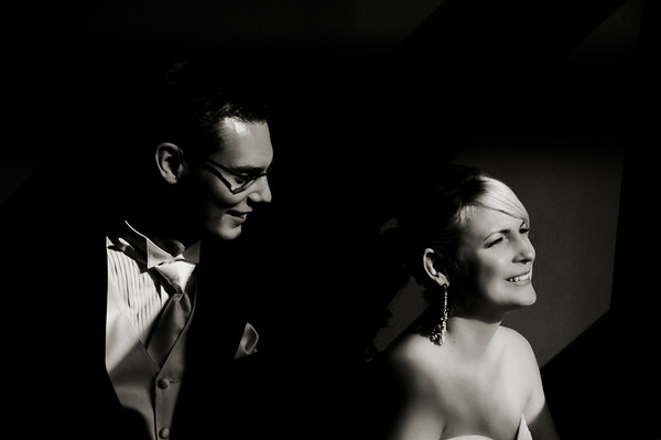 film noir wedding photography