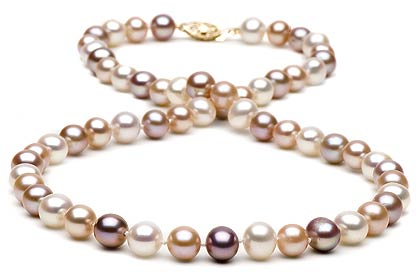 multicoloured pearls