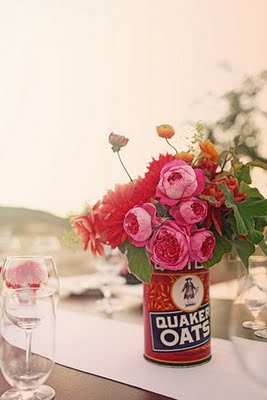 tin centerpieces