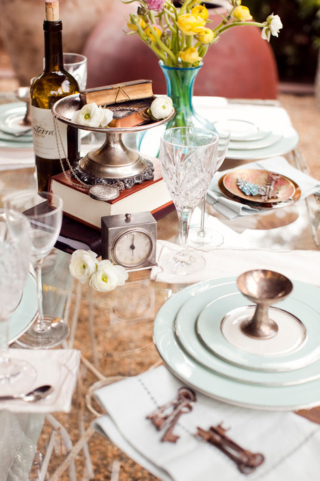 vintage wedding dishes