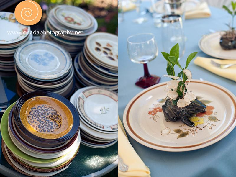vintage dishes wedding