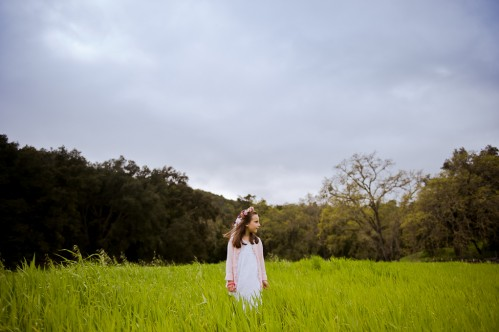 flowergirl in meadow