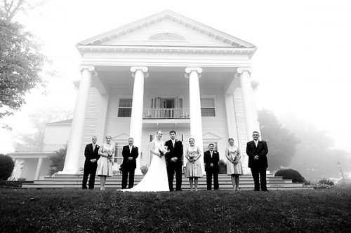 wedding in mist