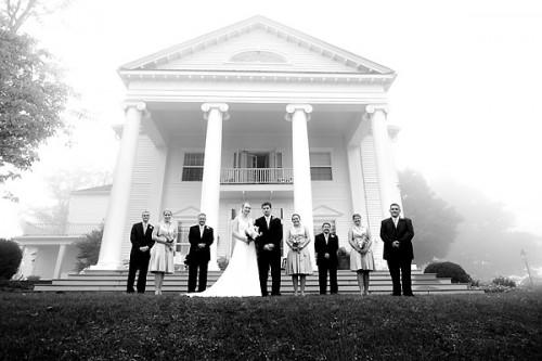 wedding in mist