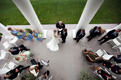 outdoor wedding in blowing rock