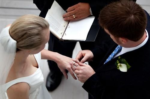wedding ceremony in blowing rock