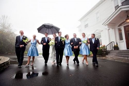 wedding in the fog