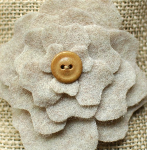 Diy favor bags peony pockets part two for Burlap flower template