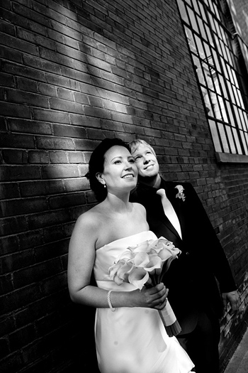film noir wedding