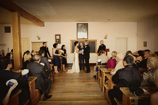 schoolhouse wedding