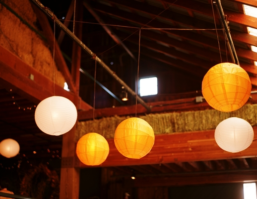 paper lanterns barn