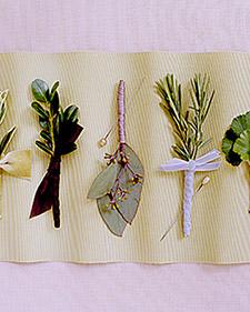 boutonnieres leaf