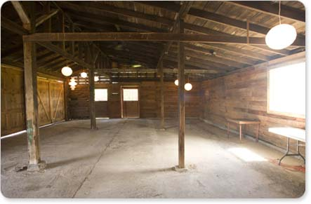Empty Barn Wedding Decor