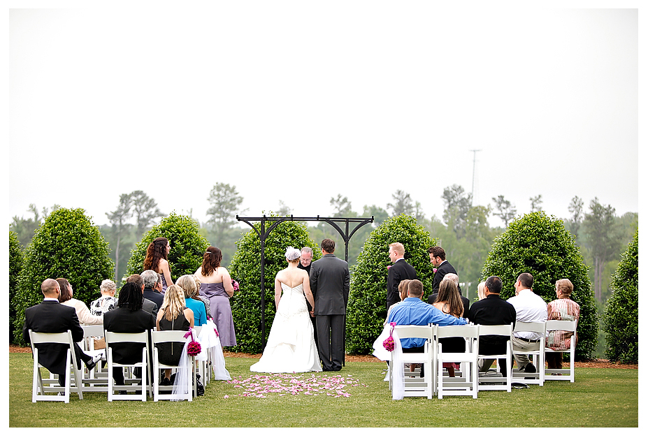 vineyard wedding ceremony white chairs